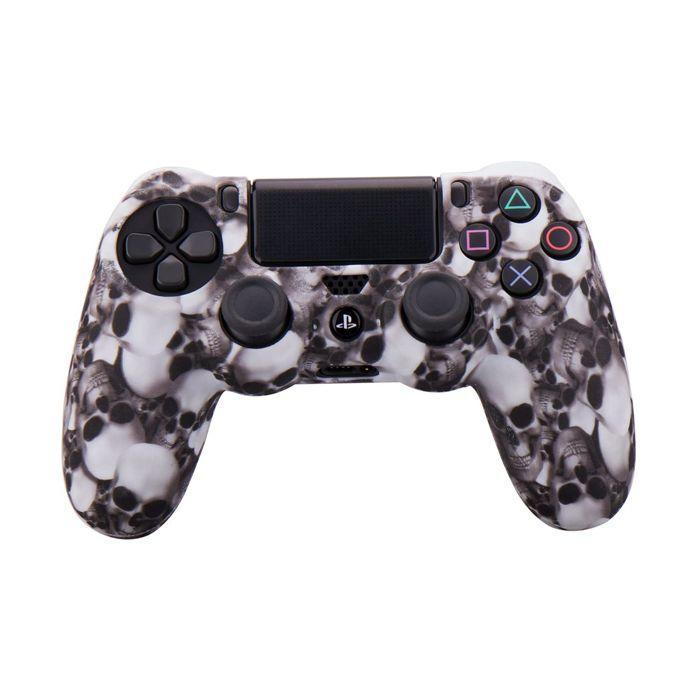 Силіконовий чохол для джойстика Sony PlayStation PS4 Type 8 White Skulls тех. пак