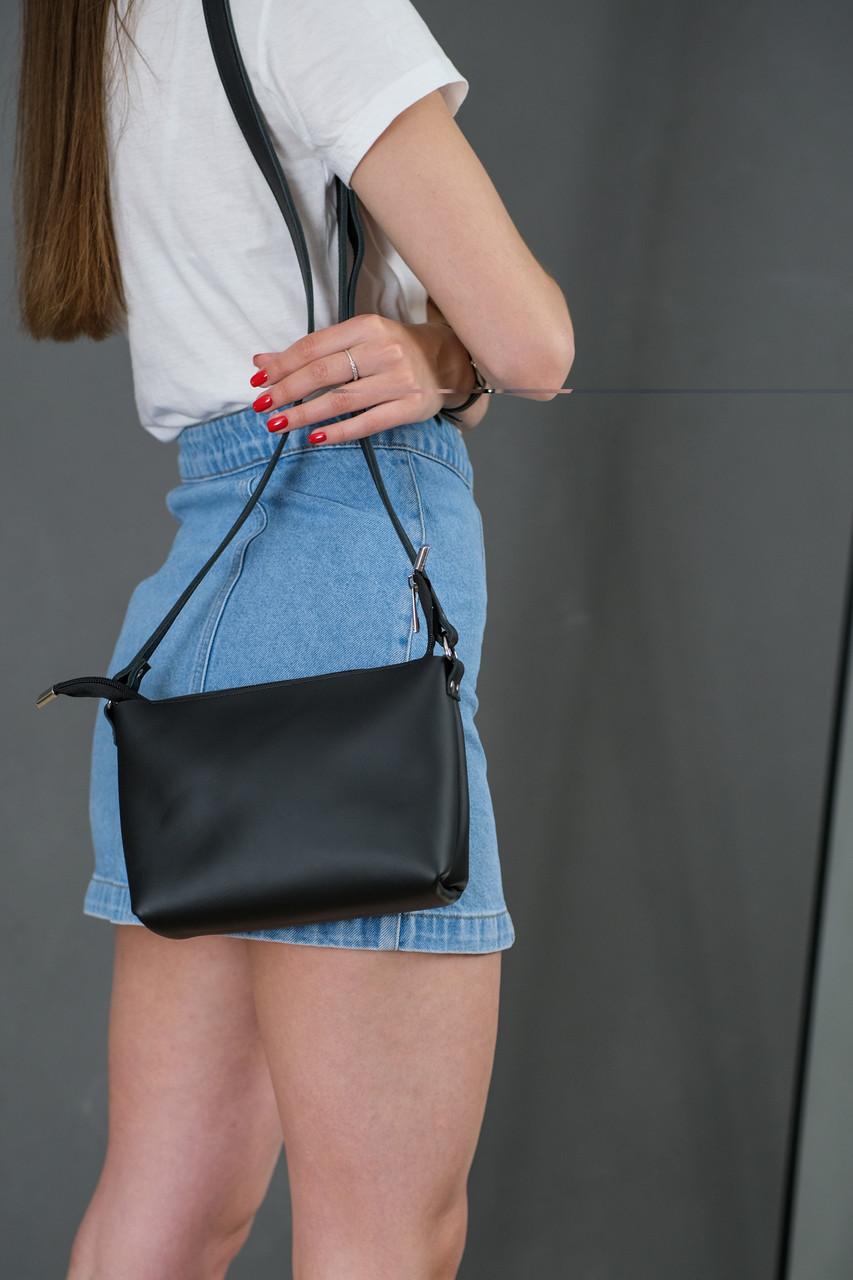 Женская кожаная сумка Лето, натуральная кожа Grand, цветт Черный
