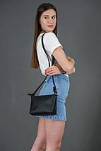 Женская кожаная сумка Лето, натуральная кожа Grand, цветт Черный, фото 2