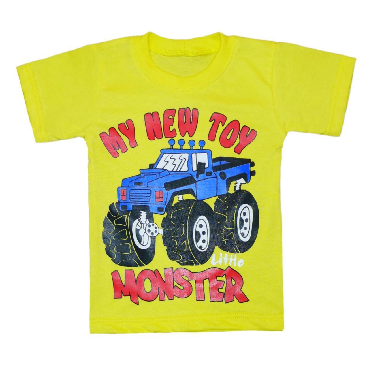 Футболка для мальчика с принтом My New Toy Monster кулир
