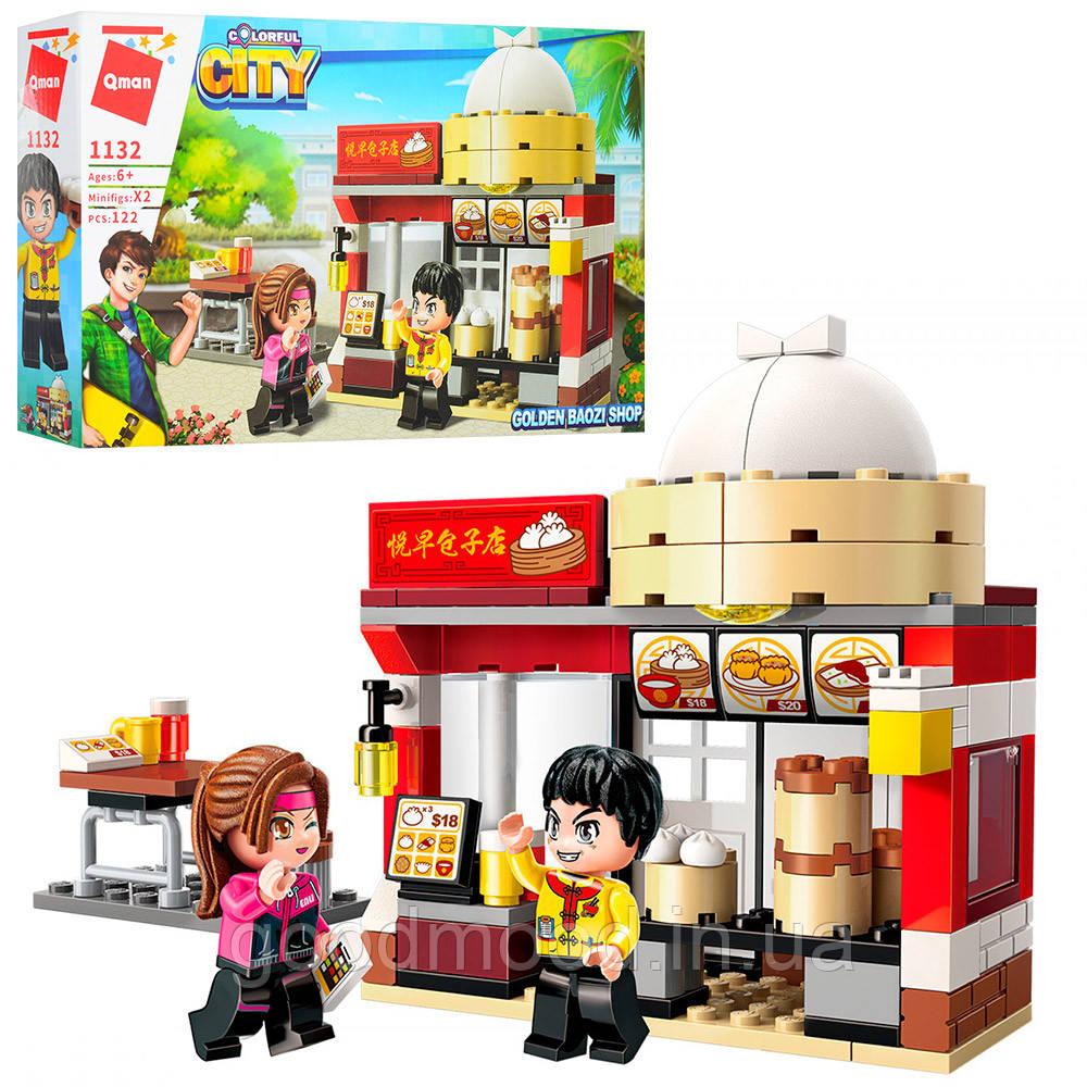 Конструктор Qman 1132 місто, кафе, фігурки, 122 дет., кор., 27-165 див.