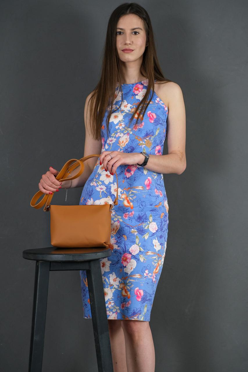 Женская кожаная сумка Лето, натуральная кожа Grand, цвет Янтарь