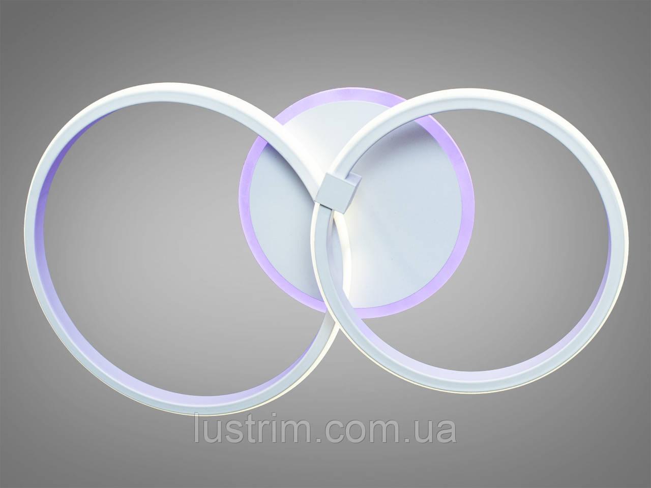 Светодиодная люстра с диммером, подсветкой 50W