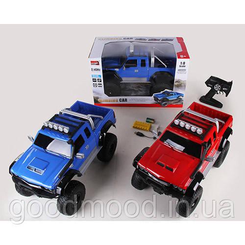 Машина 2855 радіокер.2,4G, акум.,1:8, гум.колеса, USB,аморт., 4х4, 2кольори, світло,кор.,55-30-33см.
