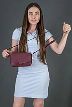 Женская кожаная сумка Итальяночка, натуральная кожа Grand, цвет Бордо, фото 2