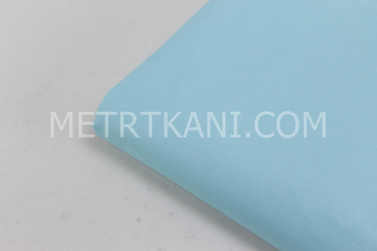 Клаптик. Однотонна польська бязь блакитного кольору 130 г/м2, 53*160 см