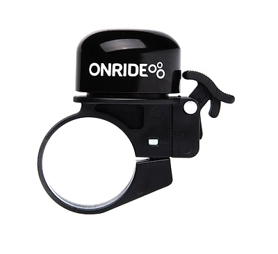 Велосипедний дзвінок Onride Din хомут 31.8 мм чорний