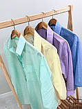 Жіноча красива пляжна туніка - сорочка, розміри 42-48,50-56, багато кольорів, фото 7