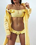 Жіноча красива пляжна туніка - сорочка, розміри 42-48,50-56, багато кольорів, фото 6