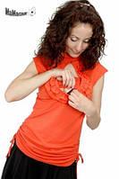 Туника «Miko» 2в1 (беременность/кормление), оранжевый