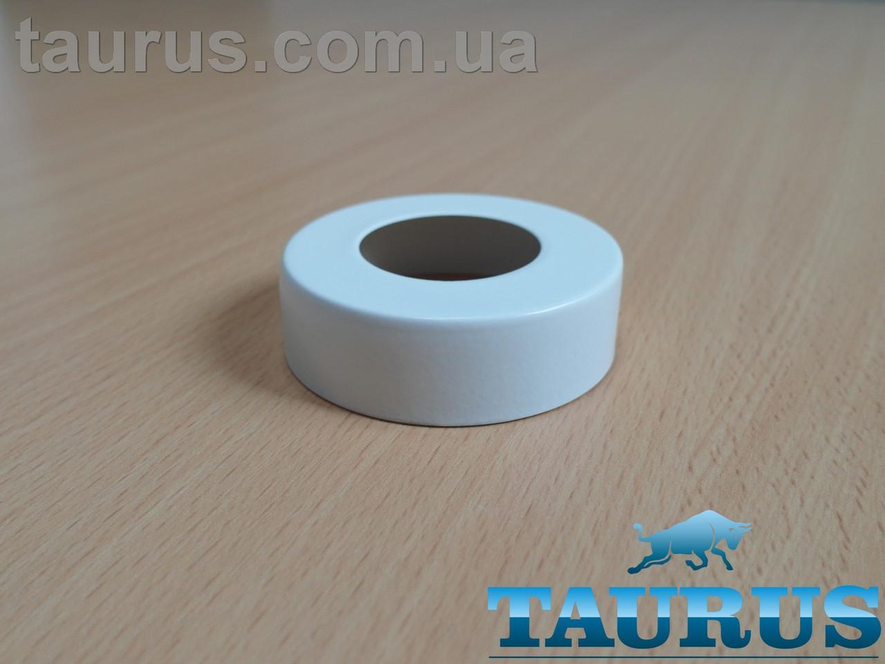 """Білий високий плоский декор фланець ThermoPulse White D62 / висота 19 мм, внутрішній розмір 1"""" (d33мм)"""