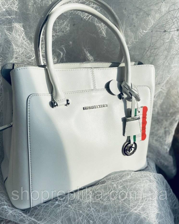 Біла жіноча сумка натуральна шкіра шкіряна сумка жіноча крос боді сумка через плече в натуральній шкірі