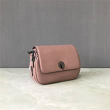 Сумка клатч 2 ремешка в комплекте / натуральная кожа (389) Розовый