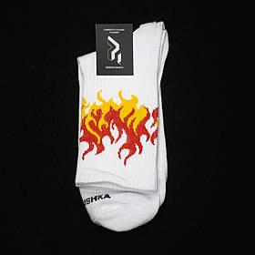 Довгі шкарпетки Гармата Вогонь Round білі