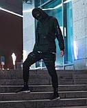 Вітрівка-анорак чоловіча Гармата Вогонь Wildscar чорна, фото 4