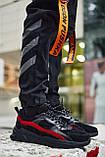 Кросівки чоловічі замшеві Пушка Огонь Step чорно-червоні, фото 2