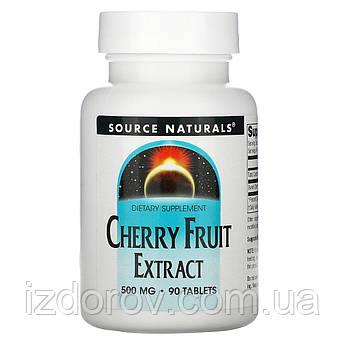 Source Naturals, Екстракт плодів вишні, 500 мг, Cherry Fruit Extract, 90 таблеток