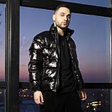 Зимова чоловіча куртка Mainstream біло-синя з рефлективом, фото 2