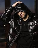 Короткая весенняя куртка-пуховик Holla черная, фото 3