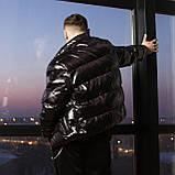 Короткая весенняя куртка-пуховик Holla черная, фото 5