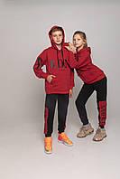 Спортивный костюм BRONX Красный/черный двунить 90% хлопок, фото 1