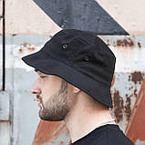 Панама унисекс Пушка Огонь Hat черная, фото 4