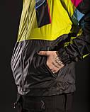 Вітрівка-зіпер чоловіча Гармата Вогонь Retro салатова, фото 5