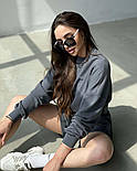 Жіночий костюм з шортами і вільним свитшотом (р. S-M) 66101940Q, фото 9