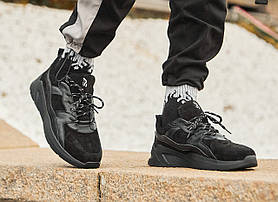 Кросівки чоловічі замшеві Гармата Вогонь Step чорні