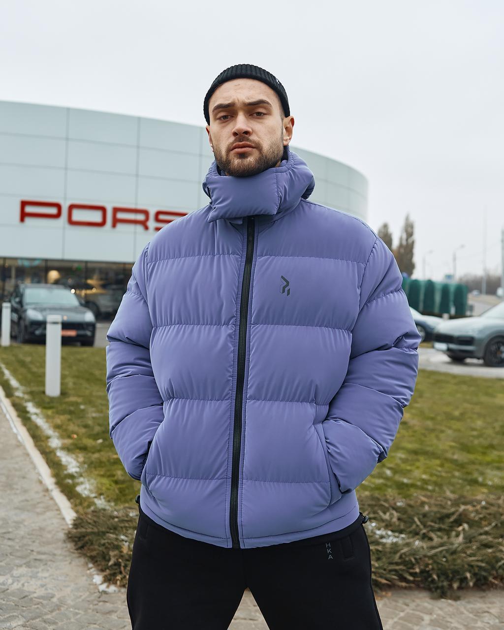 Зимова чоловіча куртка Гармата Вогонь Homie Silk місячний індиго