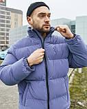 Зимова чоловіча куртка Гармата Вогонь Homie Silk місячний індиго, фото 4
