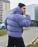 Зимова чоловіча куртка Гармата Вогонь Homie Silk місячний індиго, фото 6