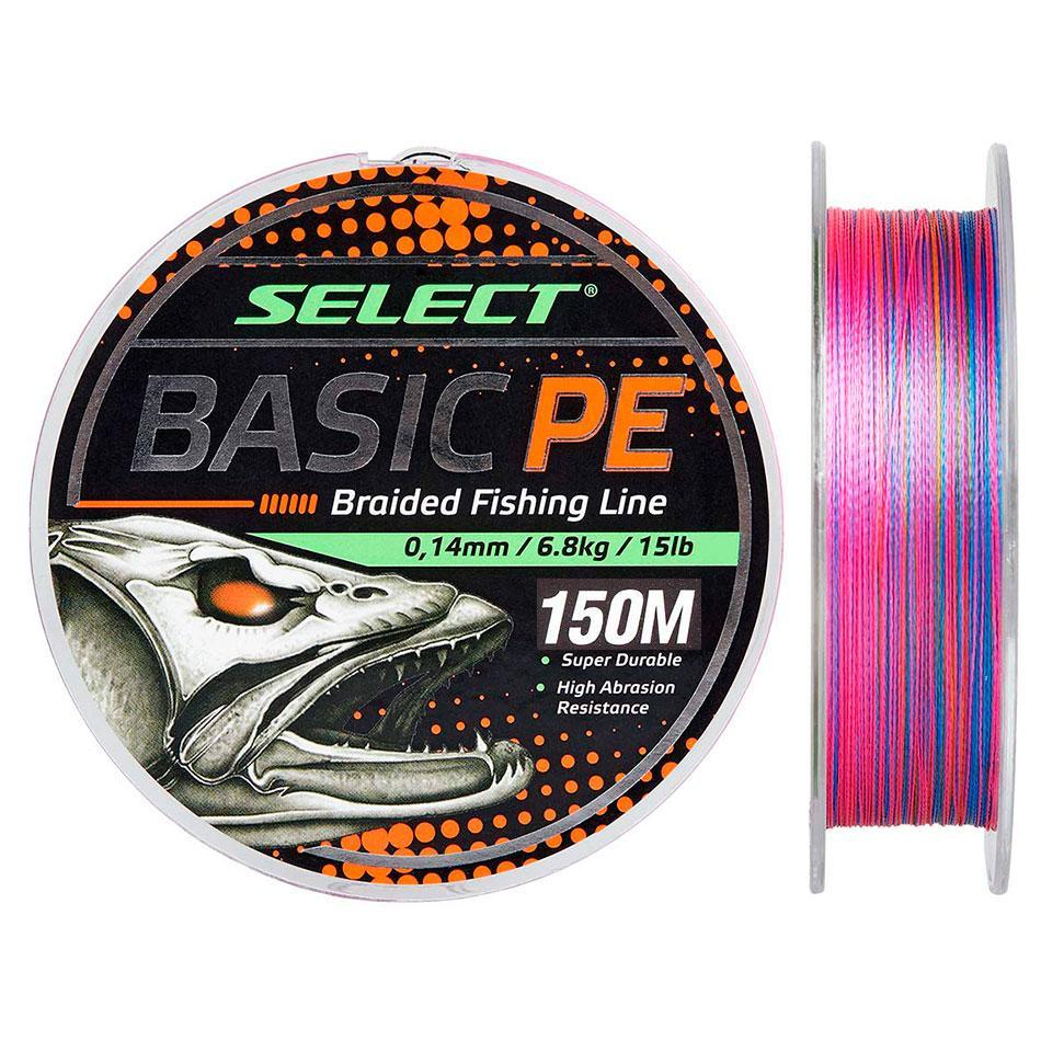 Шнур Select Basic PE 150m (різнок.) 0.20mm 28lb/12.7kg