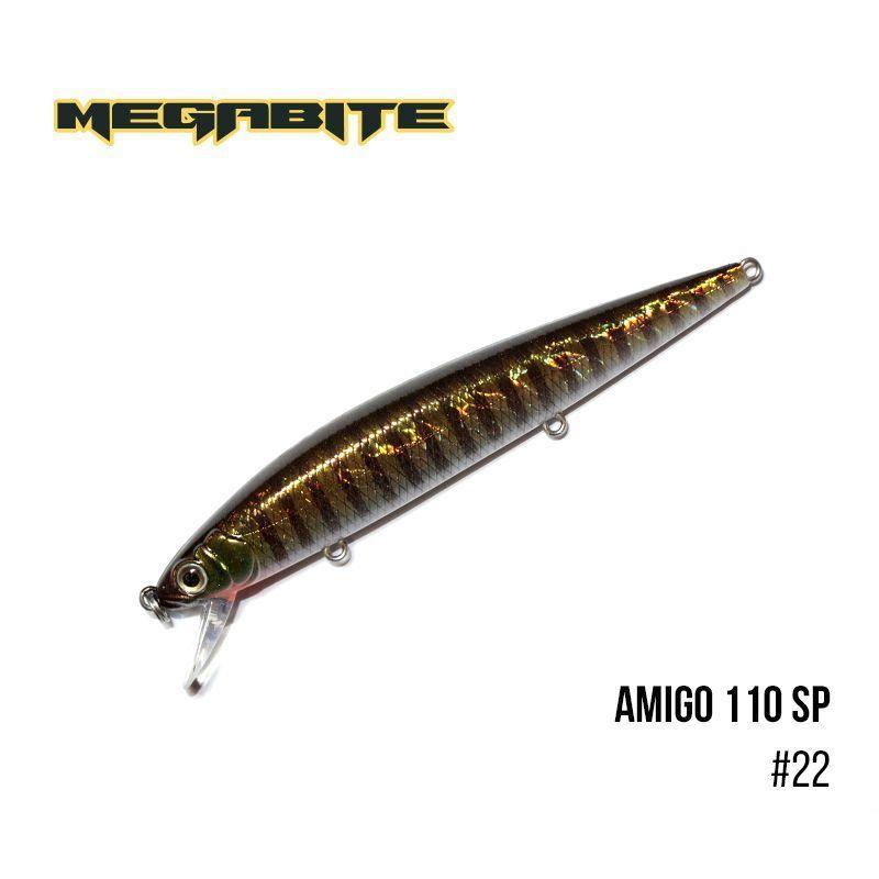 Воблер Megabite Amigo 110 SP (110 мм, 14,3 гр, 1,0 m) (22)
