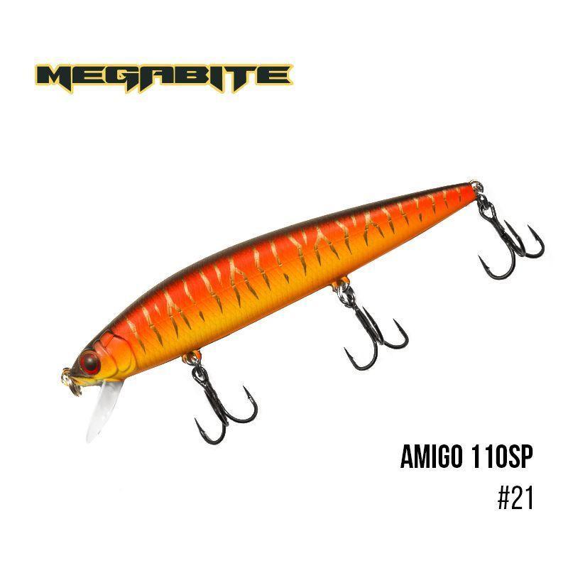 Воблер Megabite Amigo 110 SP (110 мм, 14,3 гр, 1,0 m) (21)