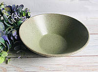 Салатник малый V 700 мл с гранитным покрытием салатового цвета, фото 1