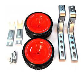 Колеса вспомогательные Lumari HR18 для детского велосипеда широкие Красные