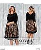 Велюрове жіноче вільне плаття до колін великого розміру, розміри 54, 56, 58, 60, 62, 64, фото 3