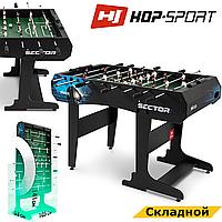 Настільний футбол Hop-Sport Sector Чорний Складаний для офісу та дому