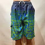 Чоловічі літні пляжні шорти з боковим кишенею сіткою, фото 2