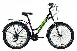 """Велосипед міський жіночий 26"""" Formula Omega AM Vbr 2021 рама 18"""" чорно-лимонний"""