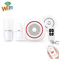 Беспроводная Wi-Fi сигнализация + дверной звонок Digital Lion SAS-02w | комплект с сиреной ,Tuya, Android /
