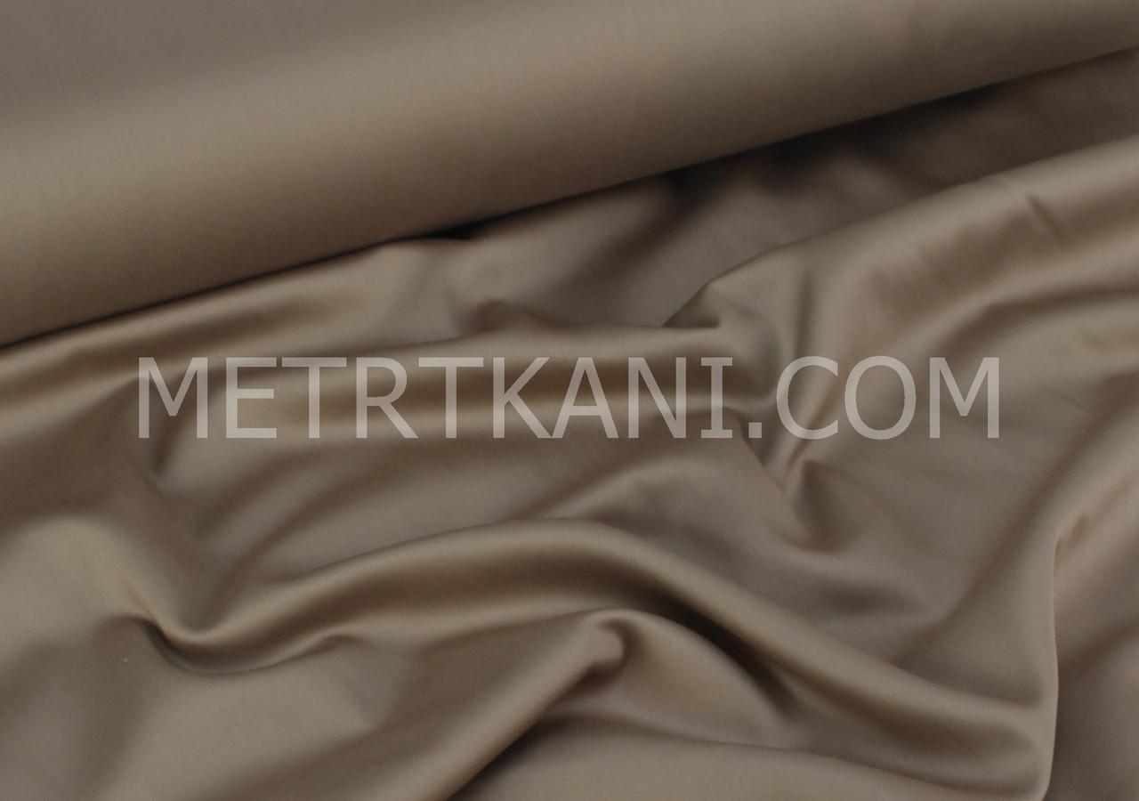 Лоскуток.Сатин премиум шоколадного цвета ширина,  83*240 см