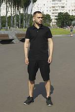 Мужской натуральный льняной комплект футболка поло+шорты Flex   2 цвета, фото 2