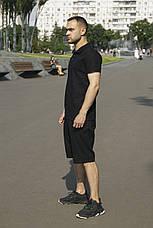 Мужской натуральный льняной комплект футболка поло+шорты Flex   2 цвета, фото 3