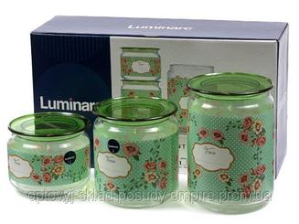 Набор банок для сыпучих продуктов Mint Green Luminarc P9215