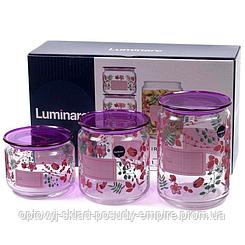 Набор банок для сыпучих продуктов Luminarc Irises Purple P9216