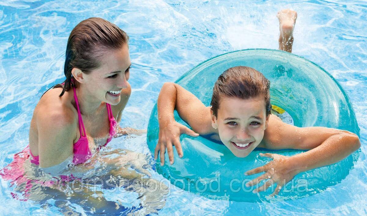 Надувной круг для плавания прозрачный Intex 59260