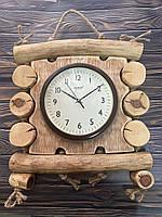 Годинник настінний, дерев'яний, ручна робота
