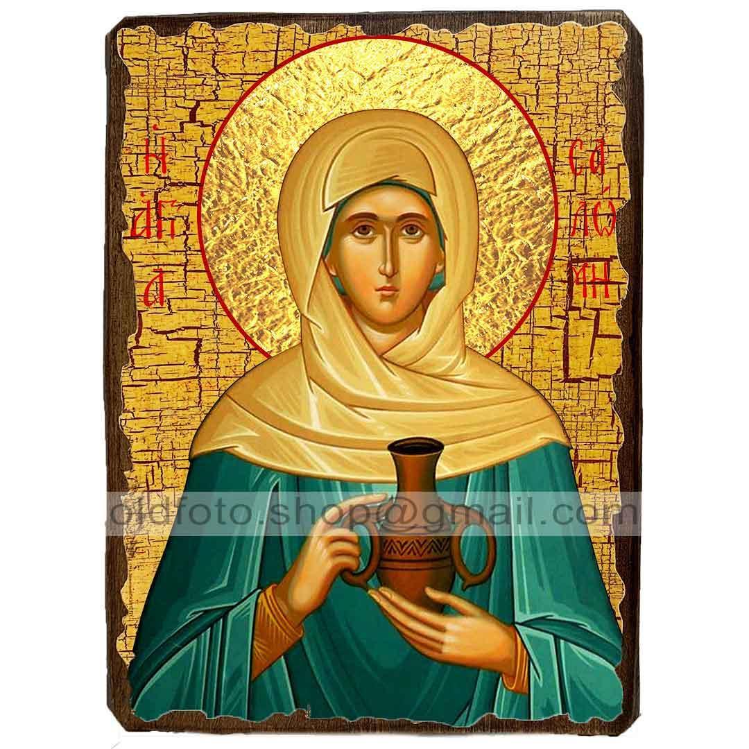 Икона Соломия Святая мироносица ,икона на дереве 130х170 мм